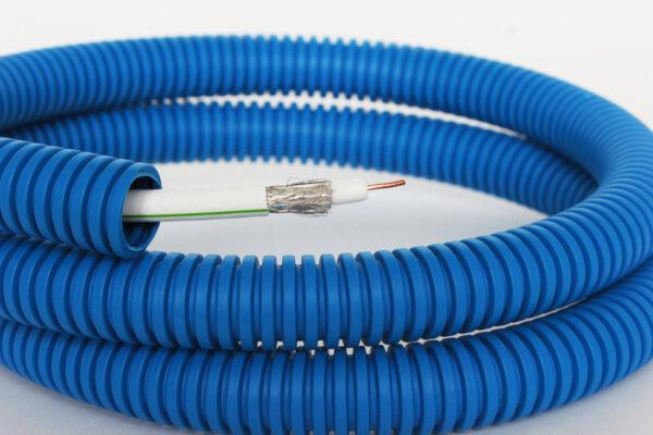 ТВ-кабель SAT 703В VE, CAVEL , в синей ППЛ гофре 16мм, 100 м