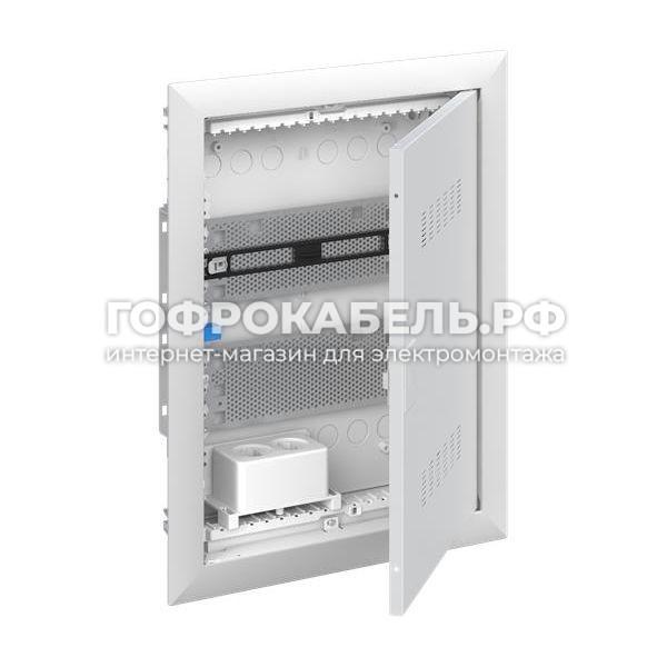 ABB UK620MVB Шкаф мультимедиа (без розетки) с дверью с вентиляционными отверстиями в 2 ряда и с DIN-рейкой.