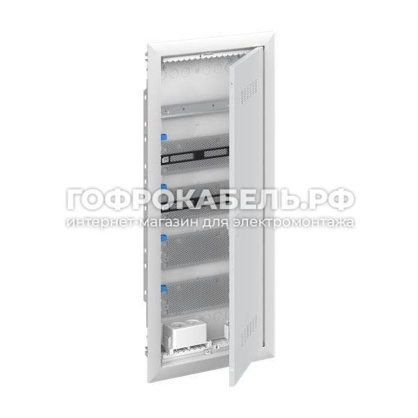 ABB UK640MVB Щит мультимедийный (без розетки) с дверью с вентиляционными отверстиями и DIN-рейкой (5 рядов)